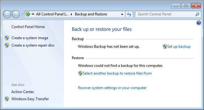 Backup your files