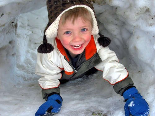 Playing in the snow-Kaden