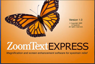 ZoomText Express Splash Screen